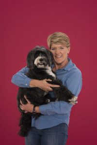 Clare BALDING WITH HER DOG