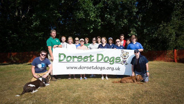 Some of the people who helped at Dorset Dogs Festival 2018 - only 1.5 of these are Dorset Dogs staff!