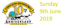 Great Global Greyhound Walk 10th Annniversary logo