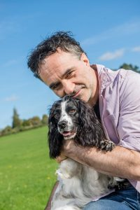 Noel Fitzpatrick with a spaniel Dogfest