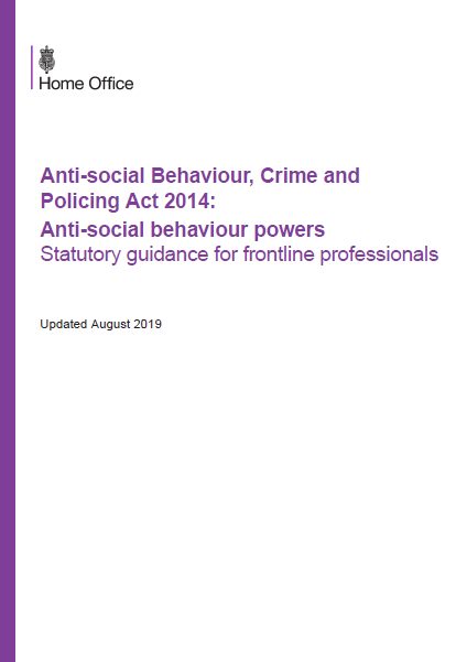 Home Office cover statutory guidance document