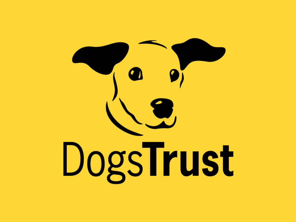Dogs Trust logo with loveable dog head with floppy ears